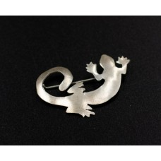 Coiled Gecko Brooch-Large