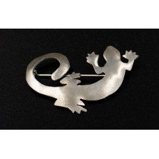 Coiled Gecko Brooch-Small