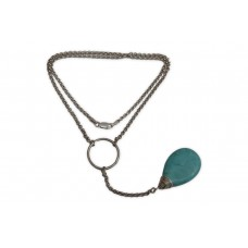 Silver Necklace with Stone & Circle