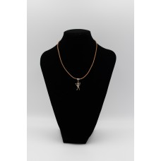 Leather necklace with cave children pendant